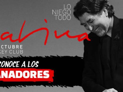 ¡Estos son los ganadores de las entradas para el concierto de Joaquín Sabina!