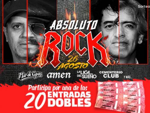 ¡Participa por las entradas al concierto 'Absoluto Rock'!