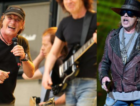 ¿Axl Rose será el reemplazo de Brian Johnson en AC/DC?
