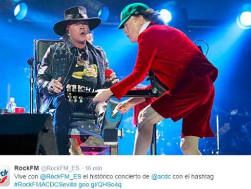 Axl Rose debuta con AC/DC en silla de ruedas [VIDEO]