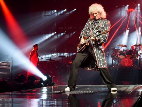Brian May, de Queen, se lució con solo de guitarra en el rodaje de 'Bohemian Rhapsody'