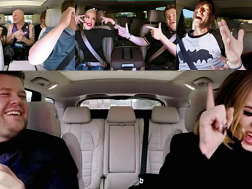 ¡Adele, Chris Martin, Red Hot Chili Peppers y más se unen en divertido Carpool karaoke navideño! [VIDEO]