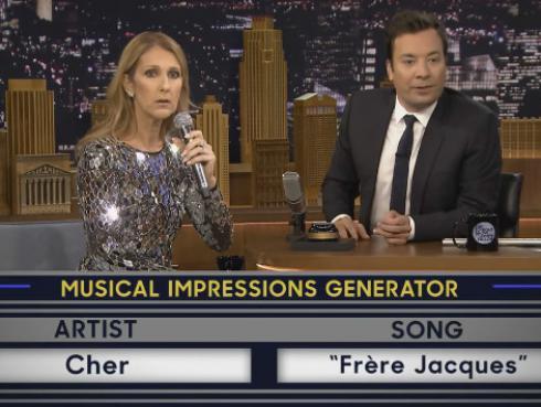 Céline Dion imitó a Cher, Michael Jackson y más en show de Jimmy Fallon [VIDEO]