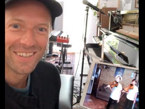 Chris Martin sorprendió a dos pequeños ¡Hicieron algo increíble!