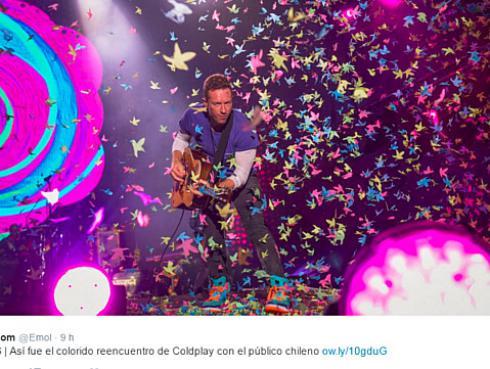 ¡Coldplay trolea a fan chileno! [FOTO]