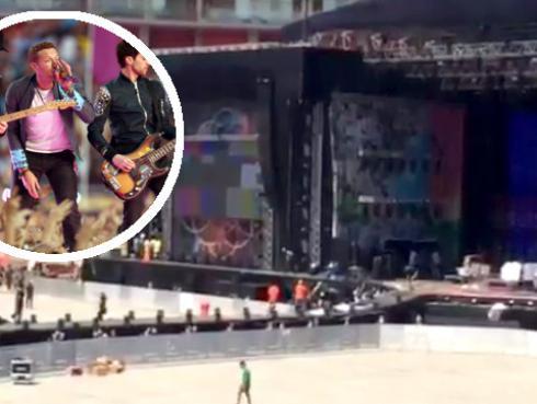 Esta fue la prueba de sonido de Coldplay en Lima [VIDEO]