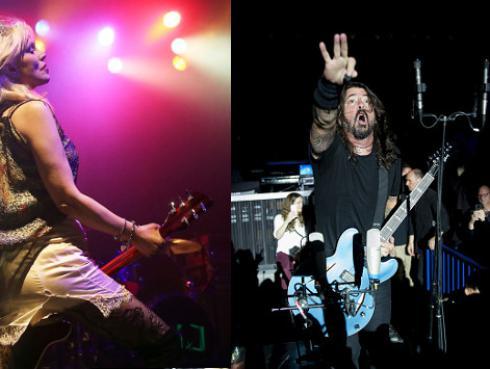 Courtney Love colaborará con fanáticos de Foo Fighters