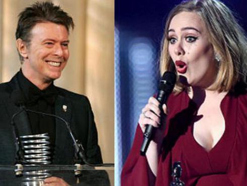 ¡Encuesta revela que David Bowie y Adele son los músicos más populares del Reino Unido!