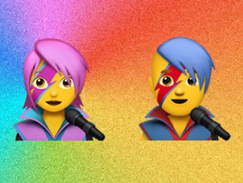 ¡Apple presenta emojis inspirados en David Bowie!
