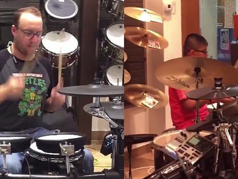 El Marshall vs. niño baterista: ¿Quién ganó este duelo? [VIDEO]