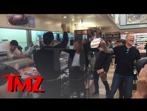 Este es el mayor gesto de Metallica para un fan en un supermercado [VIDEO]
