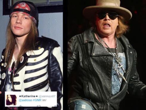El antes y después de las estrellas de rock de los 80s