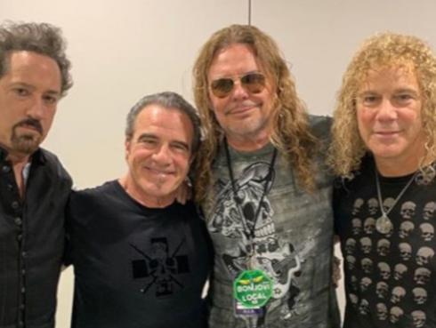 Fher, de Maná, fue recibido en España por los músicos de Bon Jovi