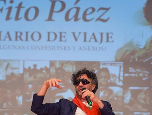 La espectacular presentación de Fito Páez en la Feria del Libro de Bogotá
