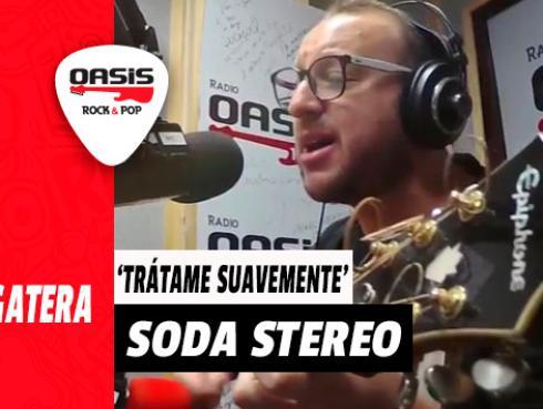 #Fogatera: El Marshall interpretó 'Trátame Suavemente', de Soda Stereo