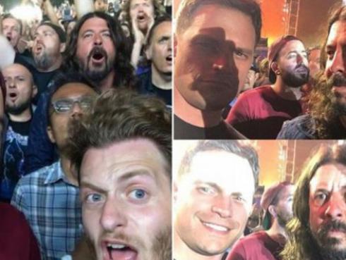 Dave Grohl disfrutó como un asistente más en concierto de Metallica