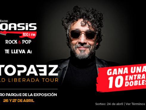 ¡Gana entradas dobles para ver a Fito Paez, en Lima, gracias a Radio Oasis!