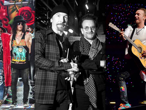 Guns N' Roses, U2 y Coldplay nominados al Billboard Music Awards 2018