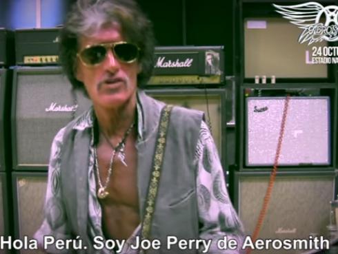 ¡Joe Perry, guitarrista de Aerosmith, envió saludo a fans peruanos! [VIDEOS]