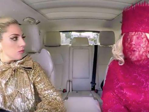 Lady Gaga recordó sus mejores temas en el 'Carpool Karooke' [VIDEO]