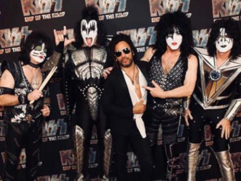 Lenny Kravitz se unió a la gira de Kiss