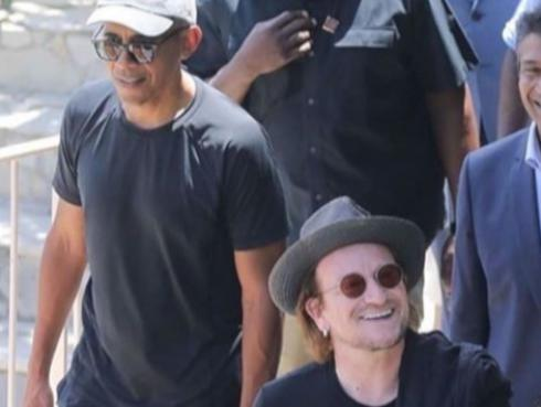Los músicos de U2 pasan sus vacaciones en compañía de la familia Obama