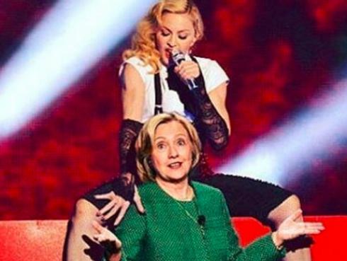 ¡Madonna comparte foto desnuda a favor de campaña presidencial!