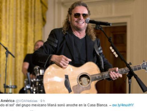 Este fue el histórico concierto de Maná en la Casa Blanca [VIDEO]