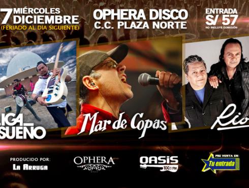 ¡Mar de Copas, La Liga del Sueño y Rio en Festival 'Arma tu lista'!