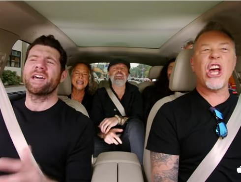 Metallica sorprende en tráiler del programa 'Carpool Karaoke' [VIDEO]