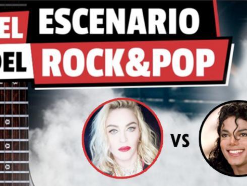 Michael Jackson se enfrenta a Madonna en El Escenario del Rock & Pop