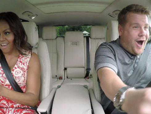 ¡Michelle Obama al ritmo de Stevie Wonder en uno de los mejores 'Carpool Karaoke'! [VIDEO]