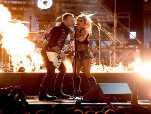 Mira el ensayo de Metallica y Lady Gaga antes de los Grammy 2017 [VIDEO]