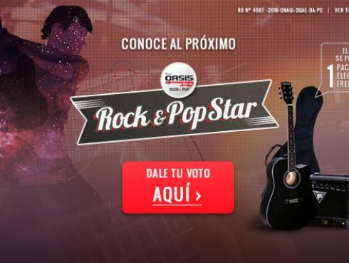'Oasis Rock & Pop Star': ¡Conoce a los participantes y vota por tu favorito!