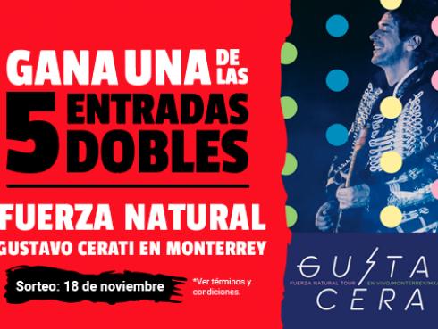¡Participa por 5 entradas dobles para el estreno de Fuerza Natural Tour, Gustavo Cerati en vivo en Monterrey!