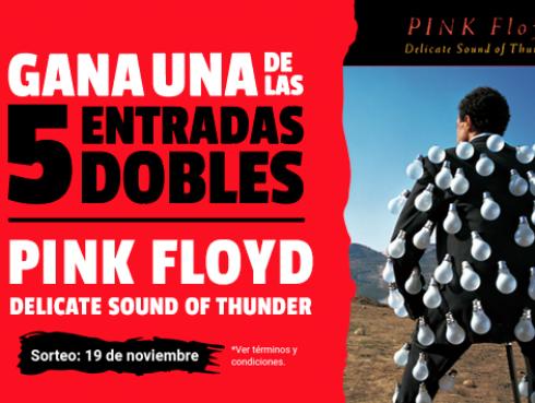 ¡Participa por una de las 5 entradas dobles para la función de Pink Floyd: Delicate sound of thunder!