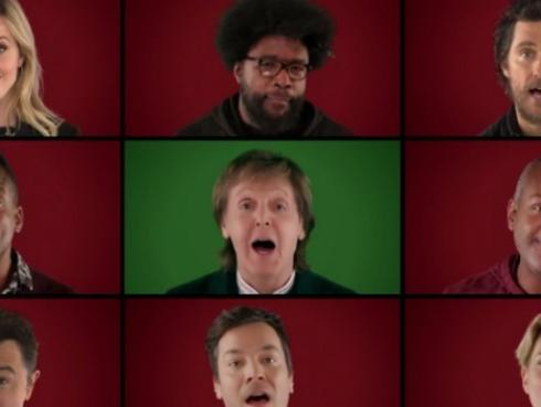 ¡Paul McCartney, Jimmy Fallon y varios famosos más se unen para desearte una Feliz Navidad! [VIDEO]