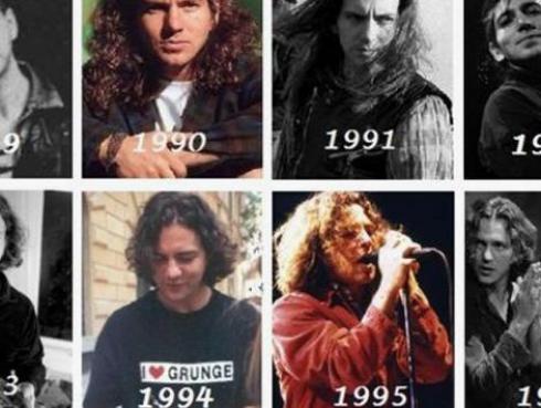 Mira cómo ha cambiado Eddie Vedder a través de los años [FOTOS]