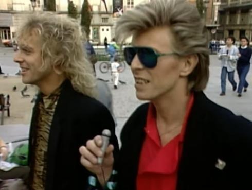 ¡Revelan video de David Bowie y Peter Frampton recorriendo Madrid hace 30 años!