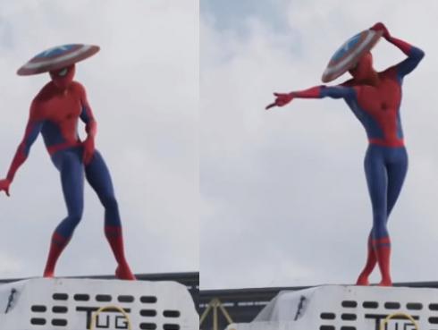 ¡Spiderman baila como Michael Jackson con escudo que robó de Capitán América! [VIDEO]