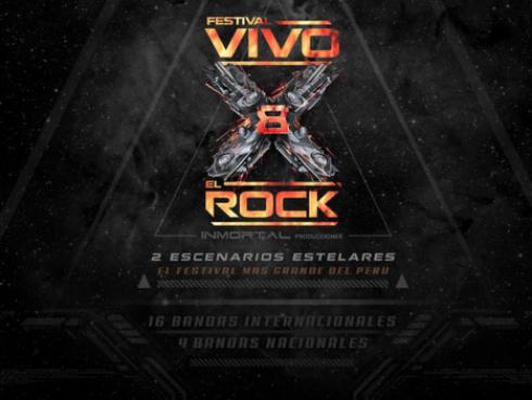 Organizador oficial de 'Vivo x el rock 8' revela detalles de las bandas incluidas en la nueva edición
