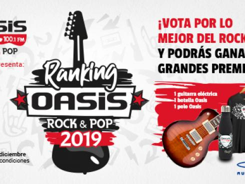 ¡Conoce al ganador de los premios por votar en el 'Ranking Oasis Rock & Pop 2019' de Radio Oasis!
