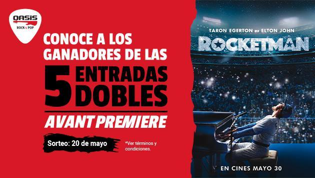 ¡Estos son los ganadores de las entradas dobles para el estreno de la película de Elton John: Rocketman!