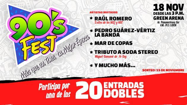 ¡Radio Oasis te lleva al '90's Fest' en el Green Arena!