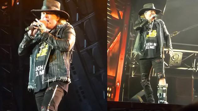 Axl Rose se volvió a poner de pie en concierto en Austria junto a AC/DC