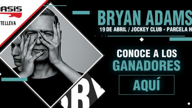 Conoce a los ganadores de las entradas para el concierto de Bryan Adams