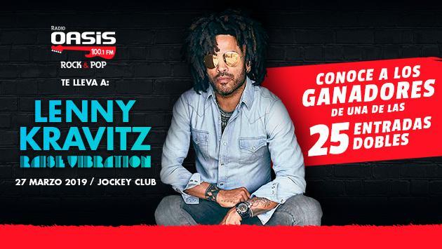¡Esta es la lista de ganadores de las entradas dobles para el concierto de Lenny Kravitz en Lima!