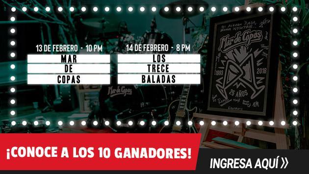 ¡Estos son los 10 ganadores del concierto virtual de Mar de Copas y Los 13 Baladas!