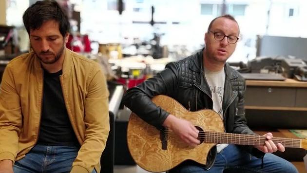 #Fogatera: Desde Audiomusica, El Marshall y Piccini interpretaron 'Flaca' de Andrés Calamaro