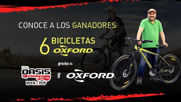 ¡Estos son los ganadores de las bicicletas Oxford!
